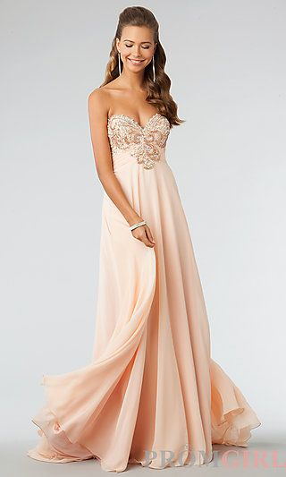 JVN by Jovani Strapless Floor Length Prom Dress | Abschlussball ...