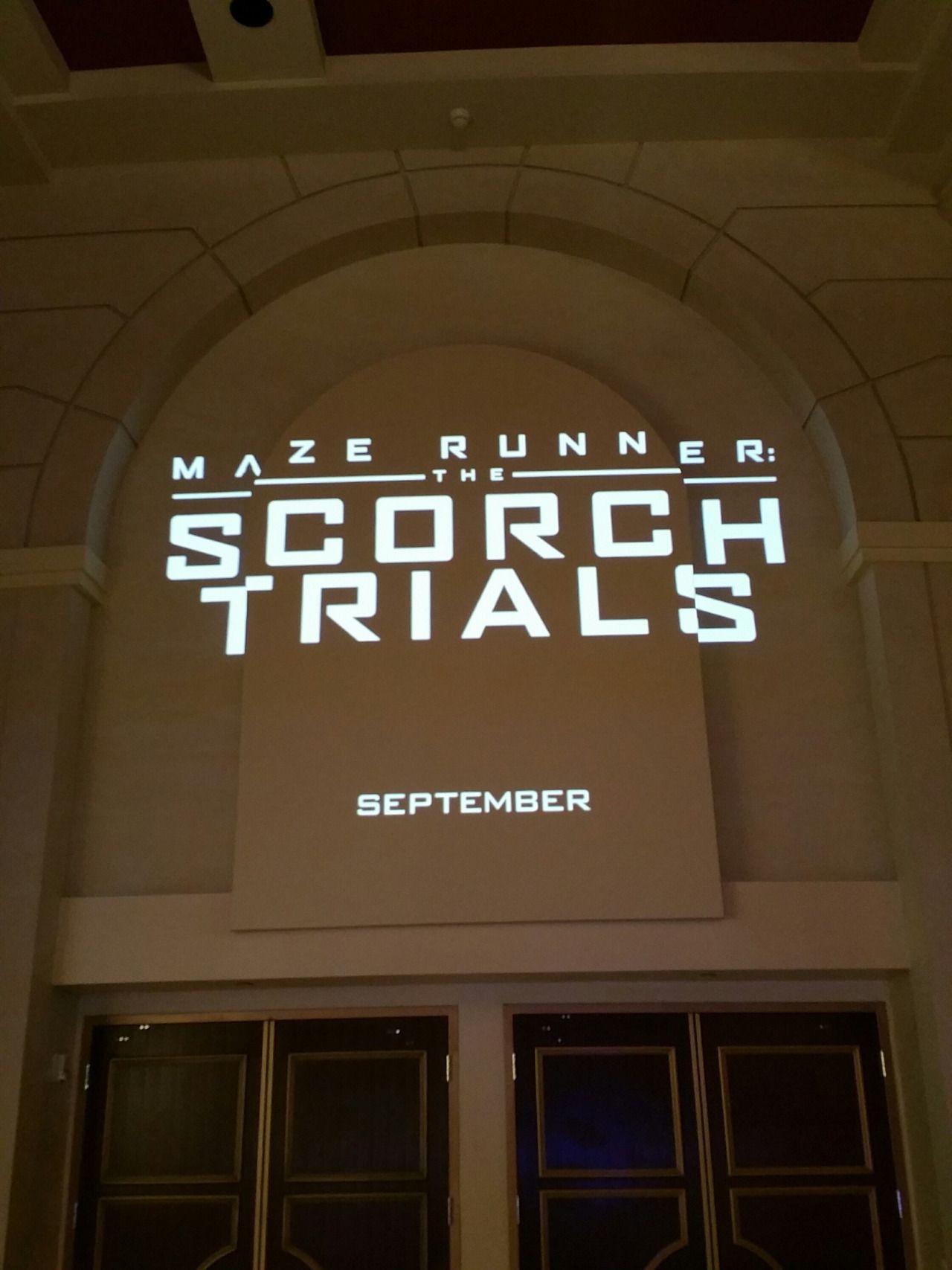 Maze Runner The Scorch Trials At Cinemacon The Maze Runner Movie