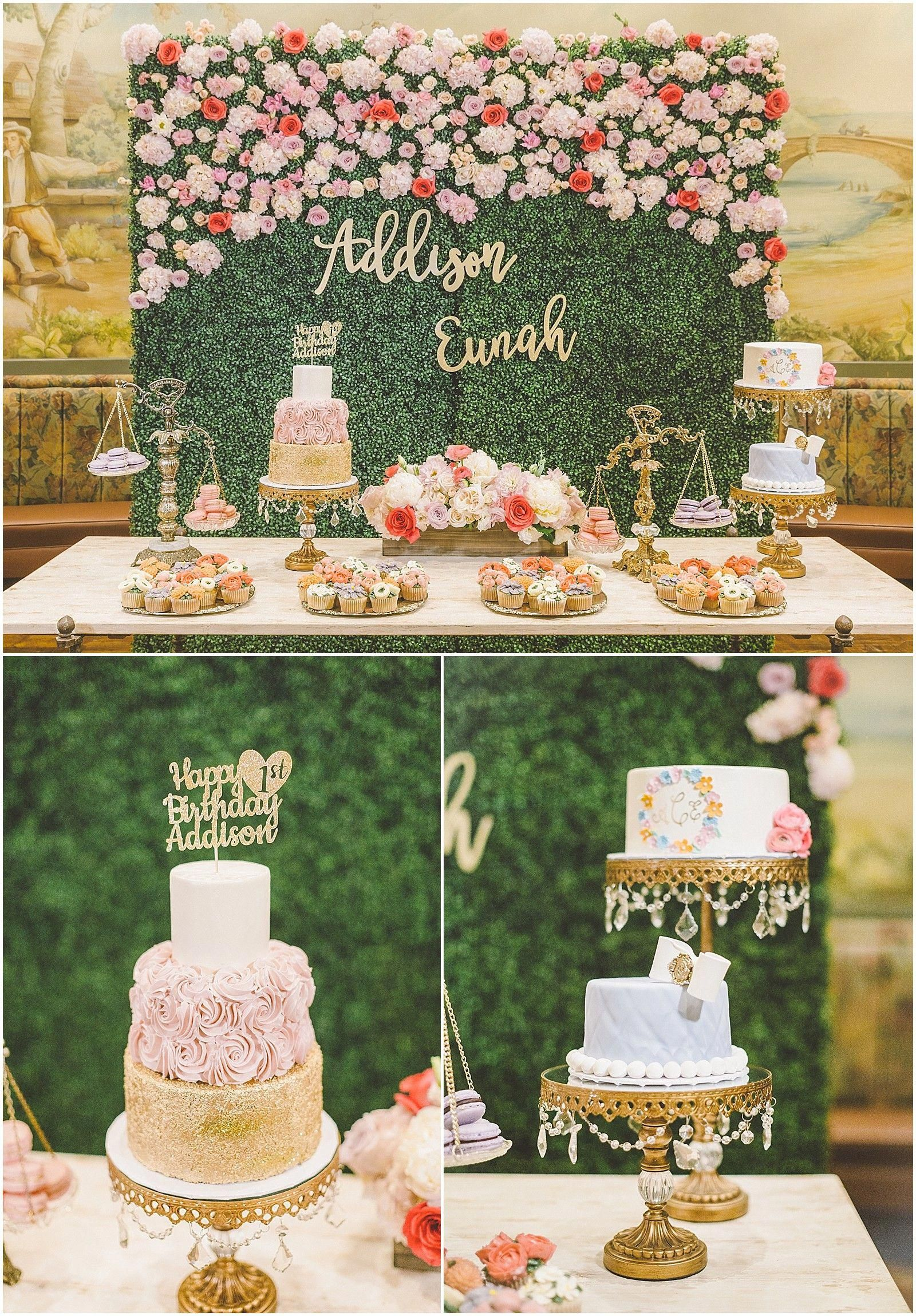 Addisons Floral Garden First Birthday Party Dol Dohl