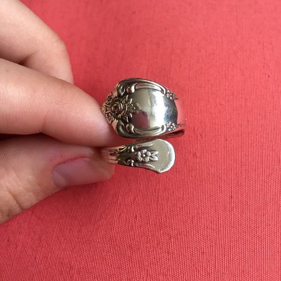 Real sterling silver spoon ring! Spoon ring size 8 Jewelry Rings