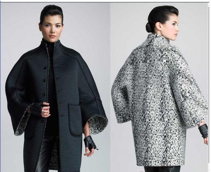 Выкройка пальто прямого кроя