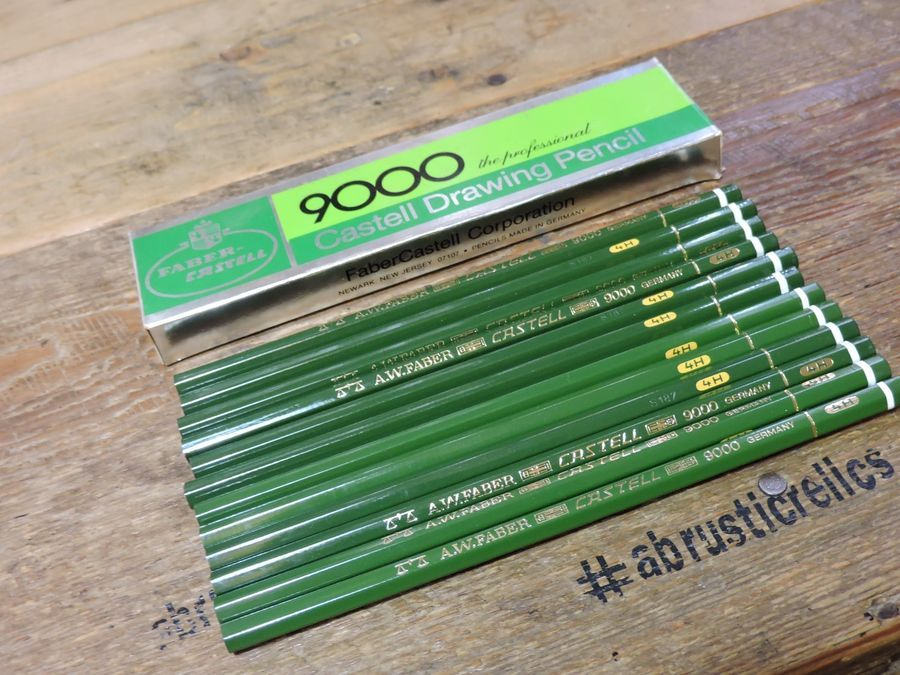 Nos Old Vintage Faber Castell 9000 The Professional Draeing Pencil 4h Germany Faber Castell Nos Faber Castell Faber Vintage