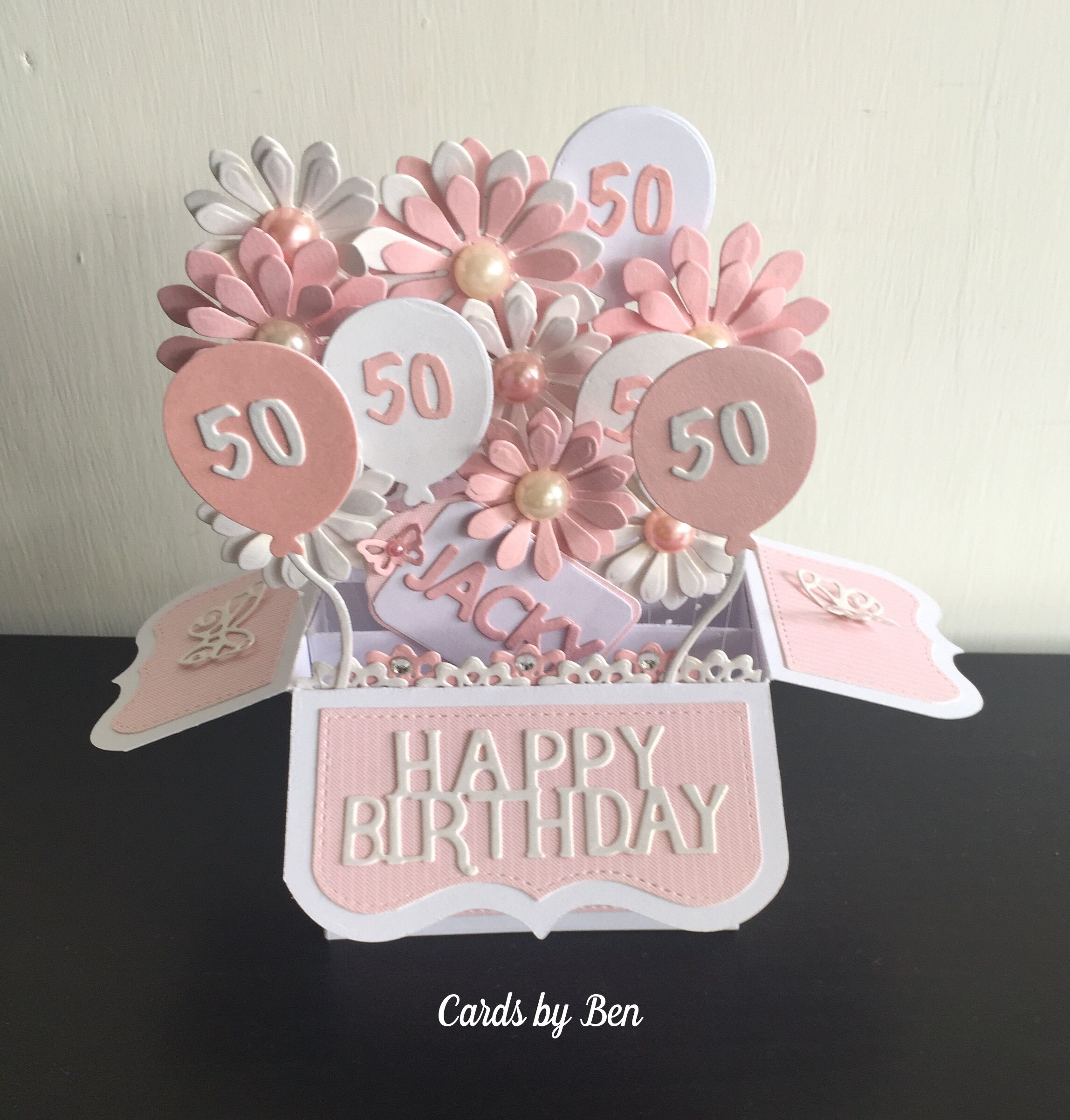 Pop Up Box Birthday Card Birthday Card Pop Up Boxed Birthday Cards Exploding Box Card