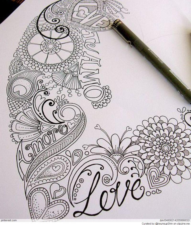 Zentangle Valentines Day Ideas