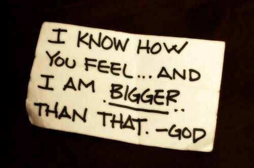 God is bigger!  Genesis 18:14