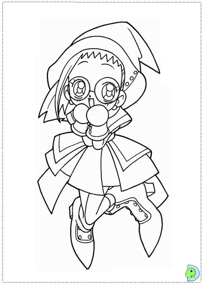 Ojamajo Doremi Coloring Pages Google Search Anime Coloring Pages