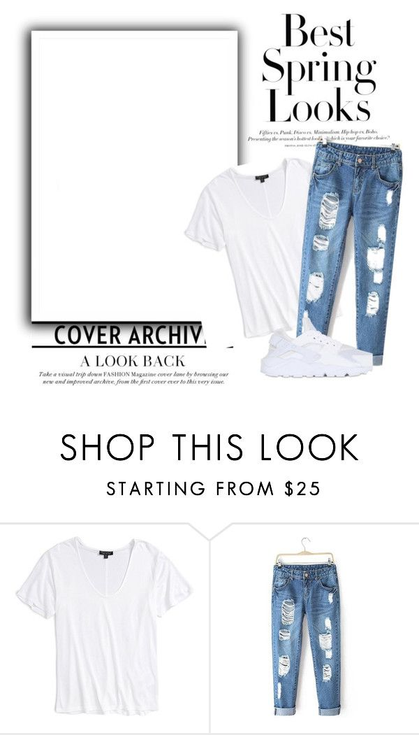 """""""casual chic"""" by lebenkova-veronika on Polyvore featuring мода, Topshop, NIKE и H&M"""