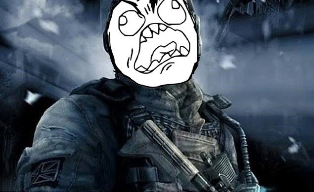 Call of Duty Ghosts Rage lol this is how i feel when i play