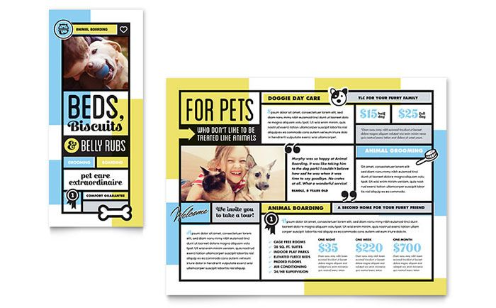 Pet Store Brochure Template Design by StockLayouts Brochure - daycare flyer template