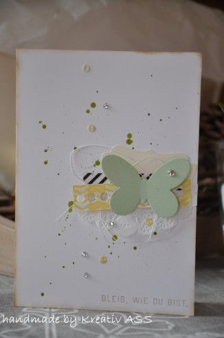 Butterflies, Doily, Stampin Up