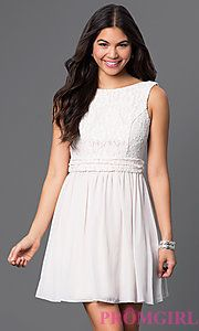 954e9e3adf1 Buy SS-D63421HVS at PromGirl Off White Dresses
