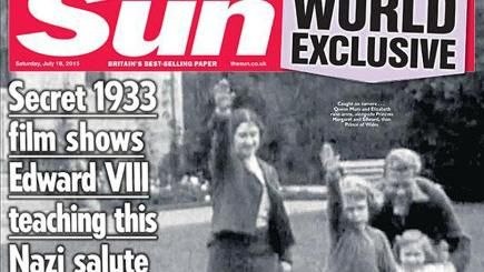 Queen Nazi salute | Footage has emerged of the Queen performing a Nazi salute as a child ...