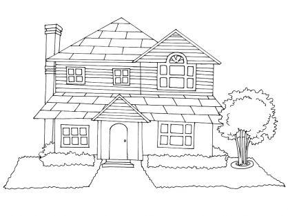 Coloriage Maison 6 tipos de vivienda Pinterest - dessin de maison a imprimer