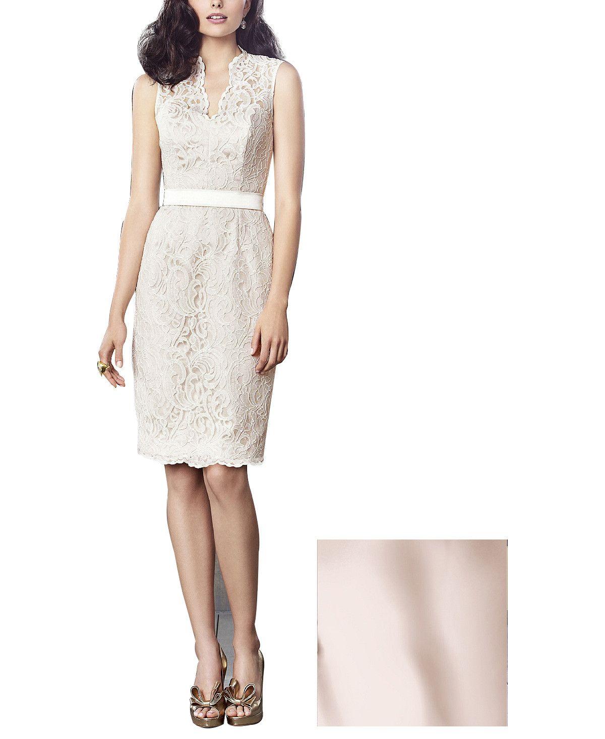 DescriptionDessy Collection Style2912Cocktaillength bridesmaid dressSleevelessV-neckline1.5