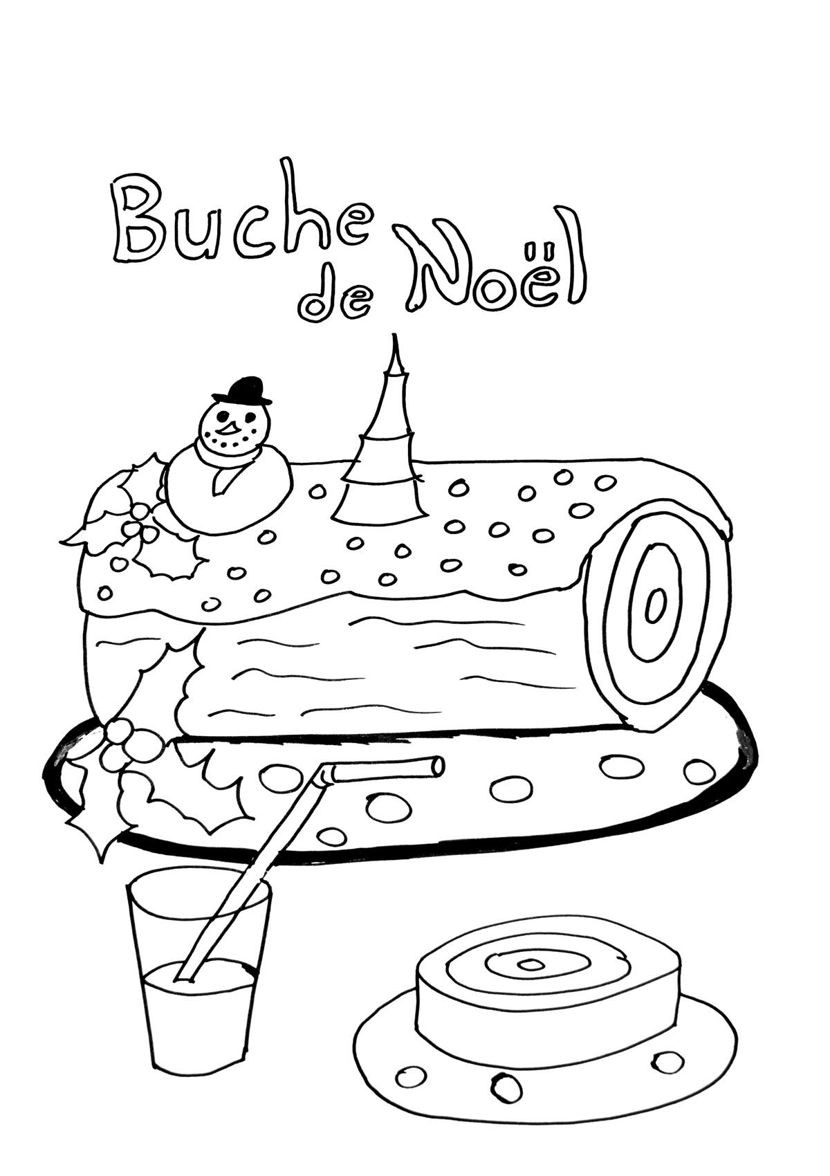 Buche De Noel With Images Christmas Coloring Pages Christmas