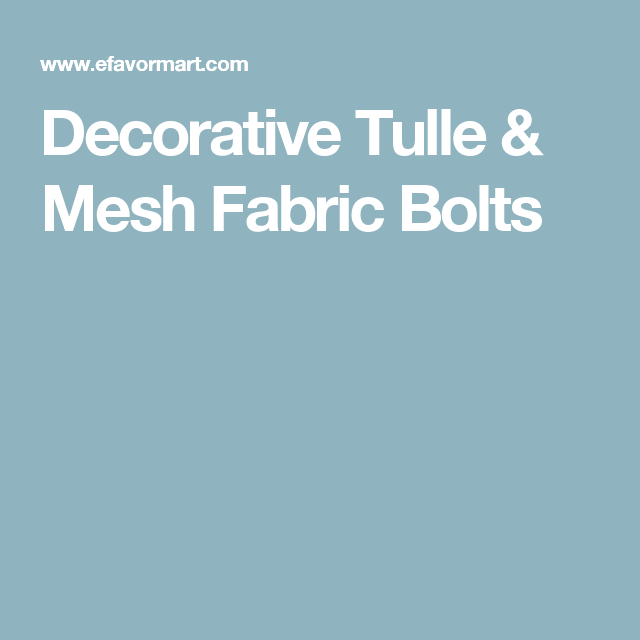 Decorative Tulle Mesh Fabric Bolts Fabric Bolts Fabric Mesh