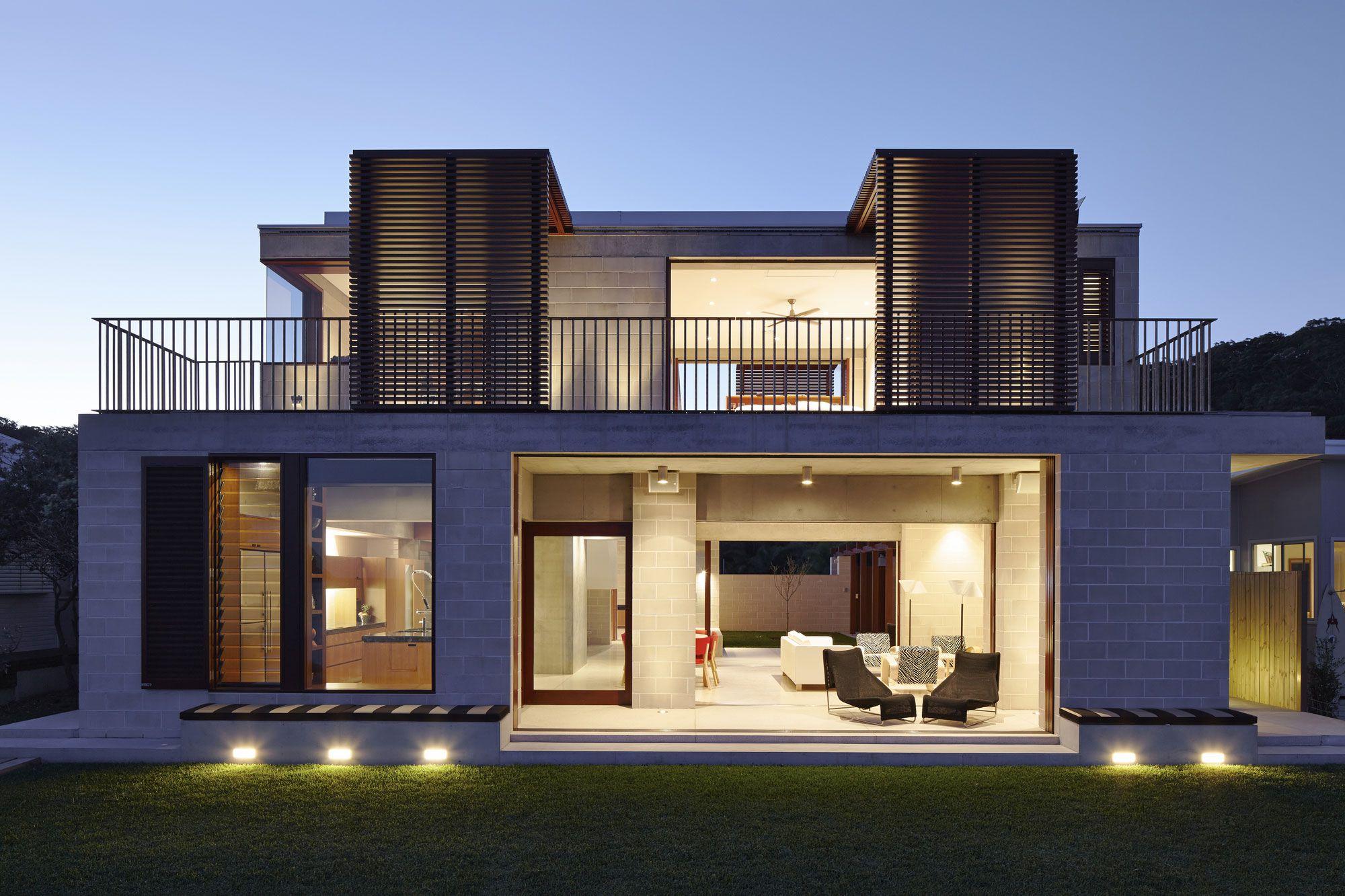 Block house by porebski architects 17 back of house pinterest