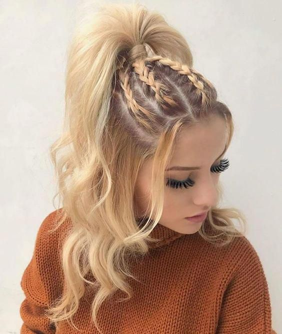 Half Up Half Down Braids With Curly Hair