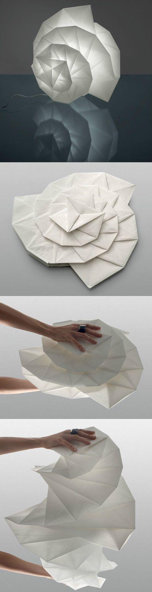 Lichter, um raum zu schmücken 三宅一生的影子灯时装设计和灯具设计的混搭  origami  pinterest