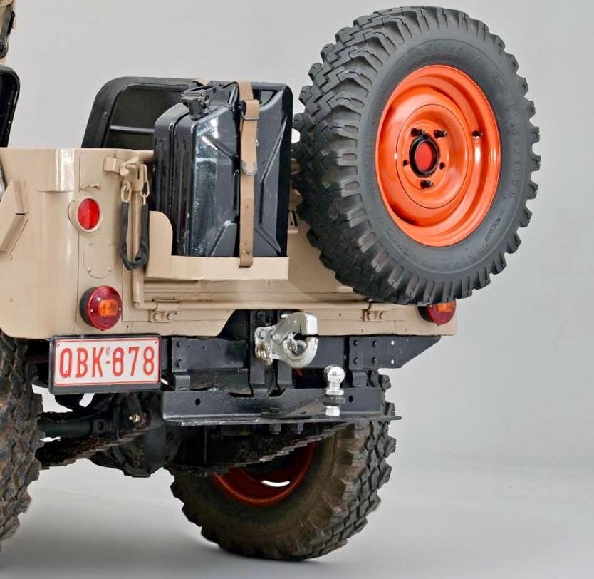 Jeep Jerry Can And Spare Tire Mount Willys Jeep Jeep Garage
