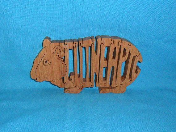 Guinea Pig Wooden Puzzle Guinea Pig Gadgets Pinterest