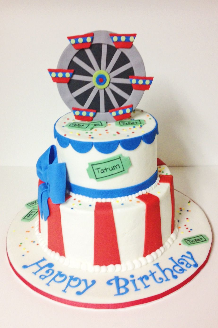 Custom Kids Birthday Cake by A Little Slice of Heaven Bakery in