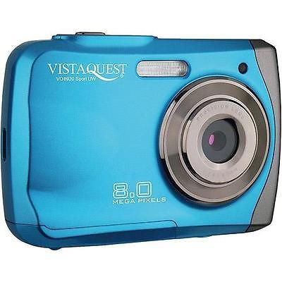 "VistaQuest VQ8920 8MP Blue Waterproof Digital Camera Underwater 9ft 2.4"" LCD - EXCLUSIVE DEAL! BUY NOW ONLY $24.99"
