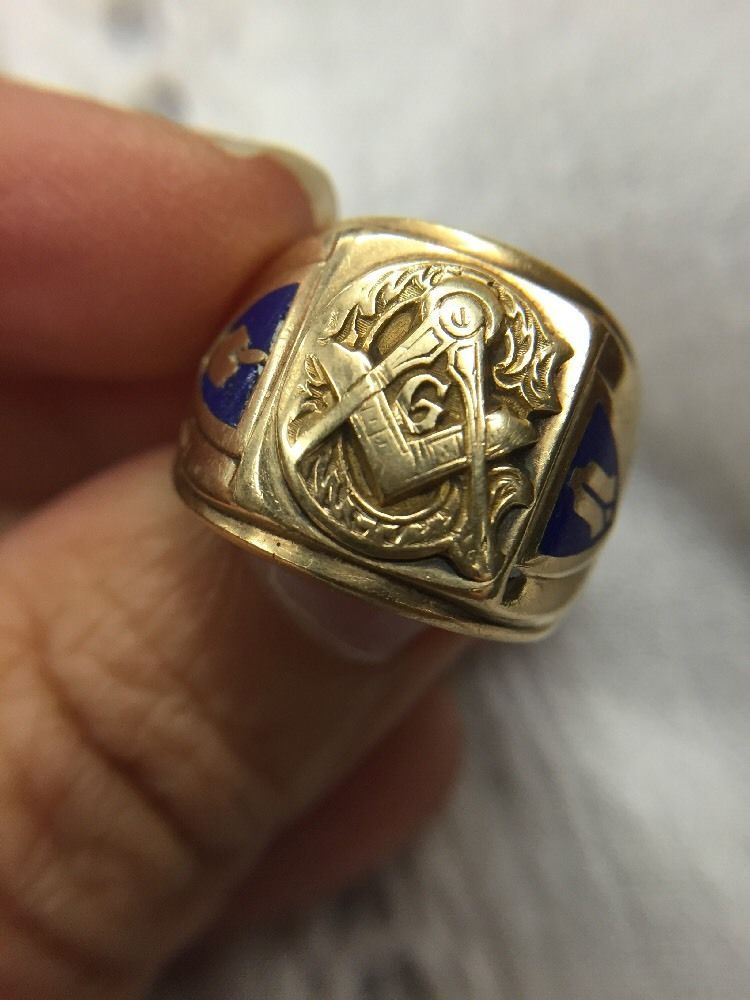 10k Yellow Gold Shriner S Masonic Ring Size 9 Vintage Masonic Ring Masonic Jewelry Masonic