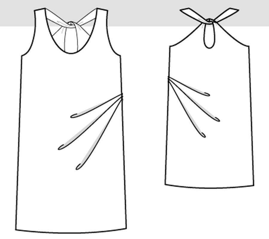 7fa702c1690 Летнее платье с глубоким декольте своими руками   Мастер-классы   Burdastyle
