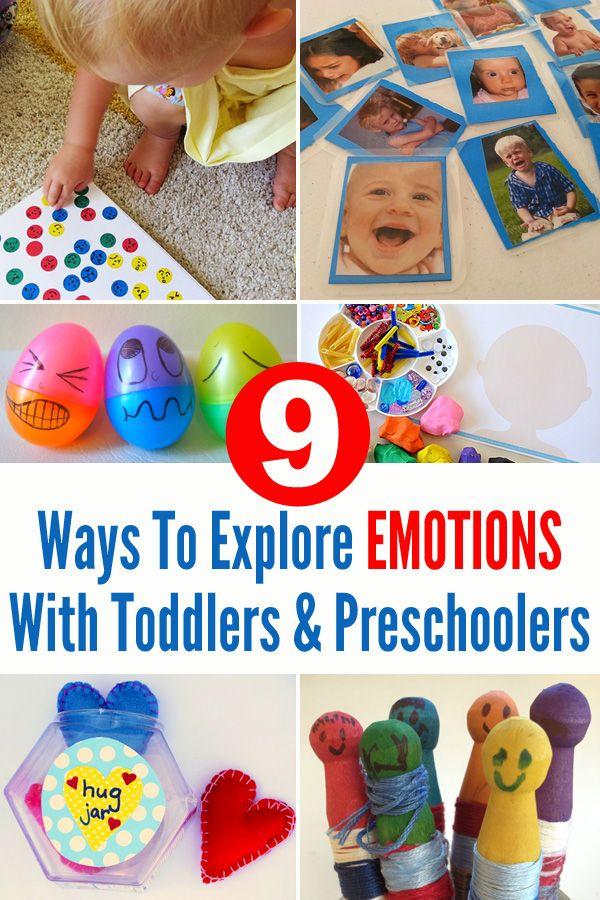 9 Ways To Explore Emotions With Toddlers & Preschoolers // 9 formas de explorar las emociones con los peques