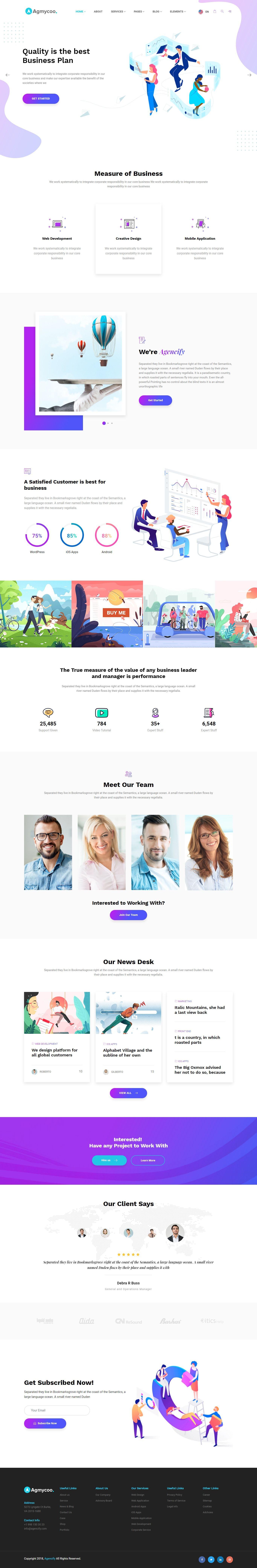 Agmycoo Isometric Creative Digital Agency Portfolio Html Template Web Design Company Web Design Web Development Design