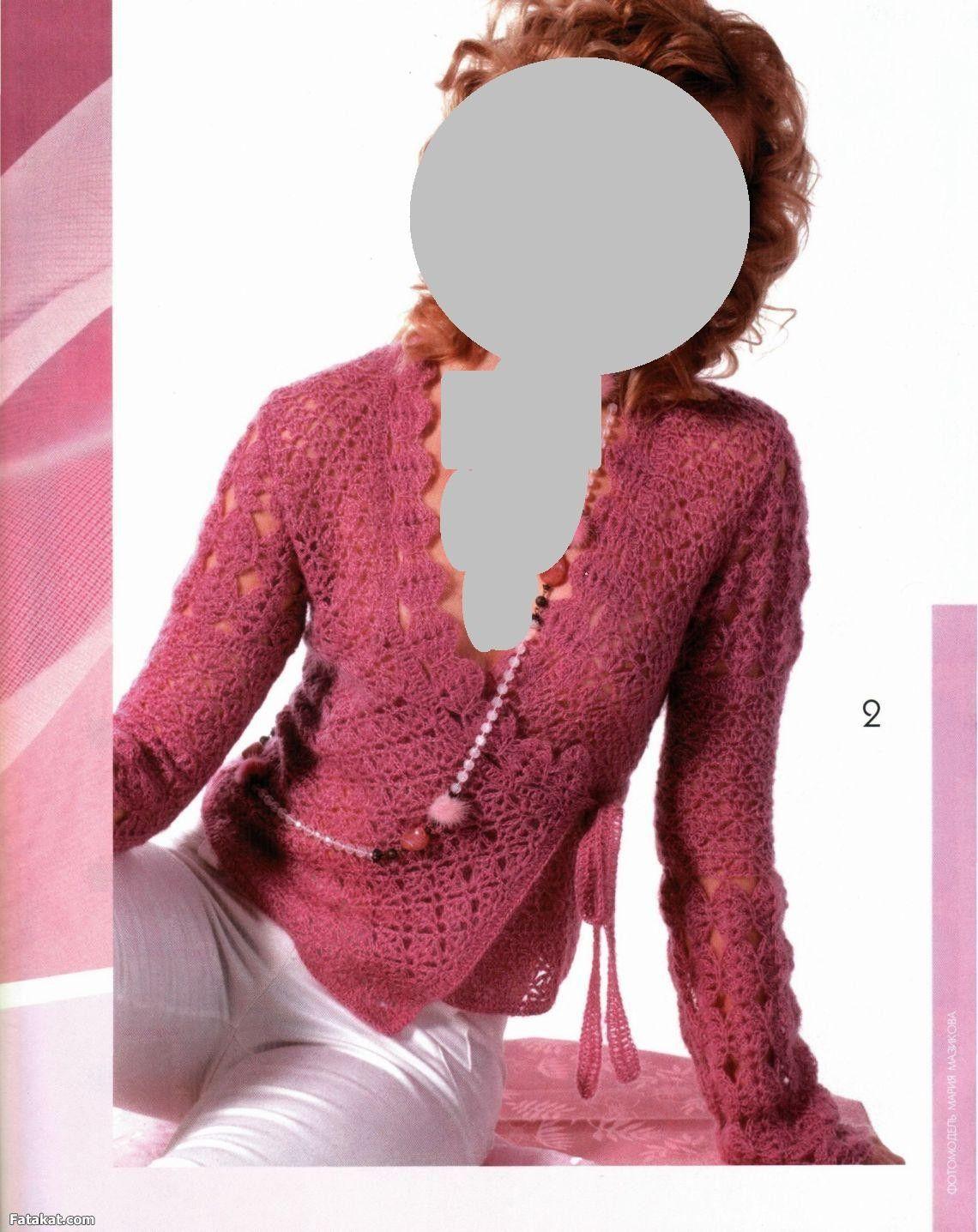 شرح بلوزة كروشيه كروازيه رقيقة Sweater Crochet Pattern Lace Sweater Pattern Crochet Clothes