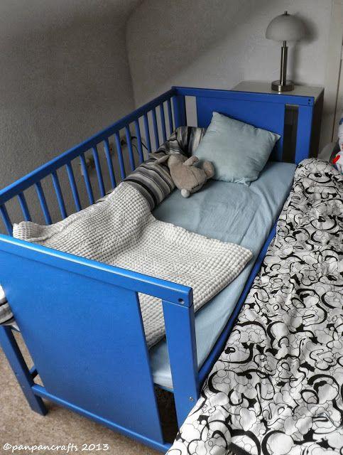 Pin Von Amanda Bishop Auf Made By Me Panpancrafts Lookbook Beistellbett Babybetten Selbstgebaute Krippe