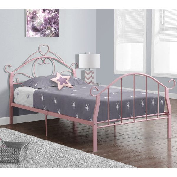 Pink Metal Twin Size Bed Frame Only 236 Liked On Polyvore
