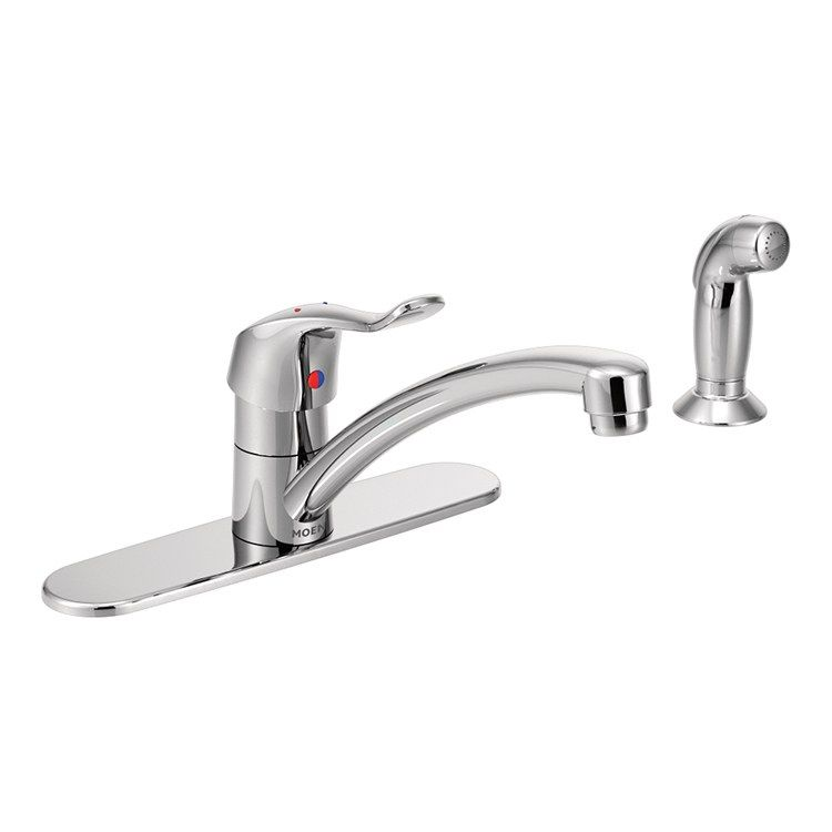 Moen 8707 M Dura Single Handle Kitchen Faucet With Side Sprayer