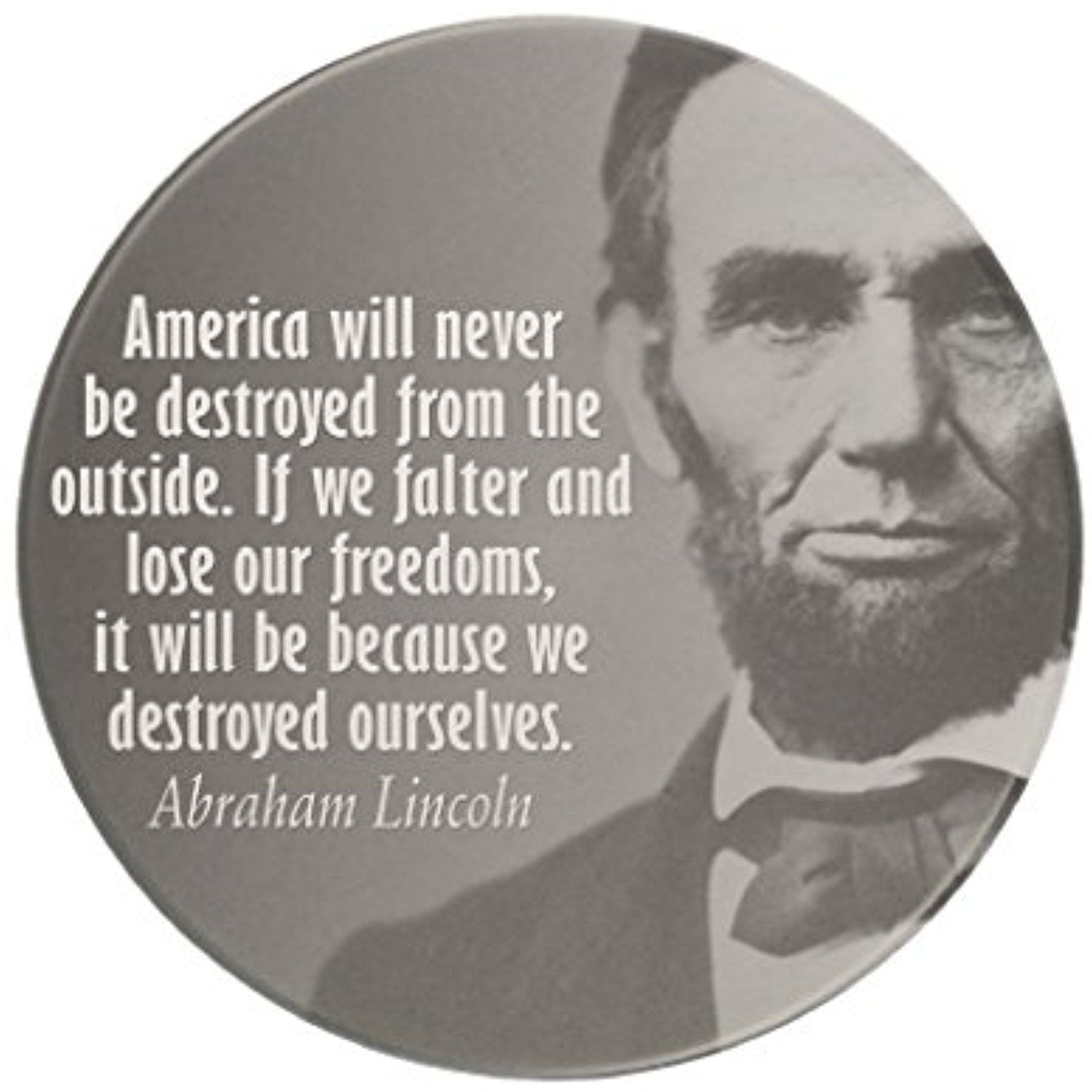 Zazzle Abe Lincoln Quotation On Freedom Drink Coaster