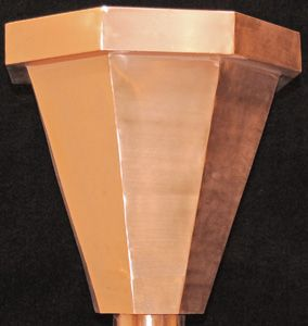 Copper Leader Head Conductor Head Model Lh002 Front View Pictured Aluminum Paint Copper Gutters Rutland