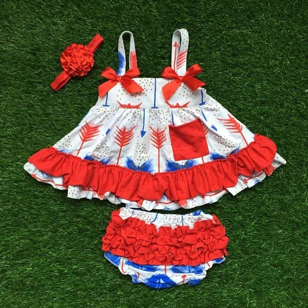 Baby Girl July 4th Outfit Swing Top Set Baby Girl Clothes Toddler