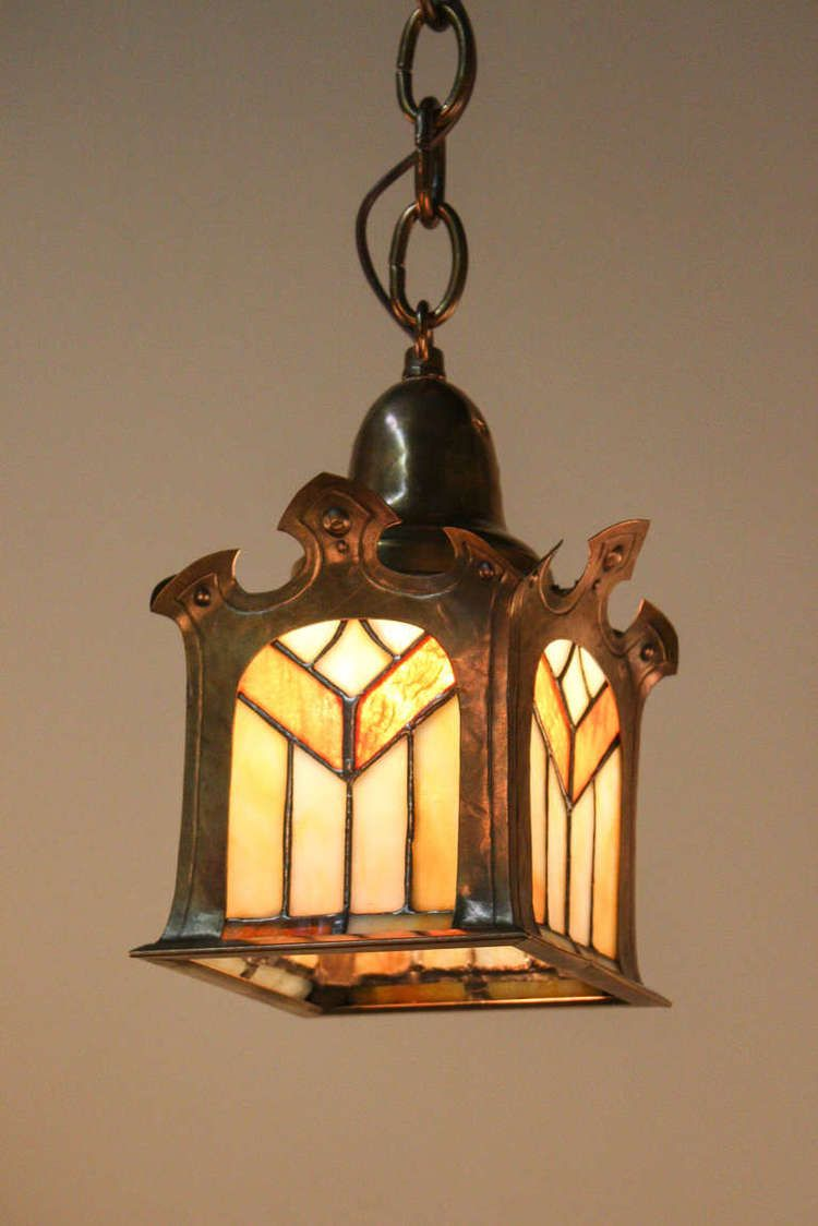American arts and crafts pendant light artisan lamps