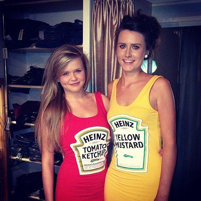 Ketchup and Mustard #bffhalloweencostumes