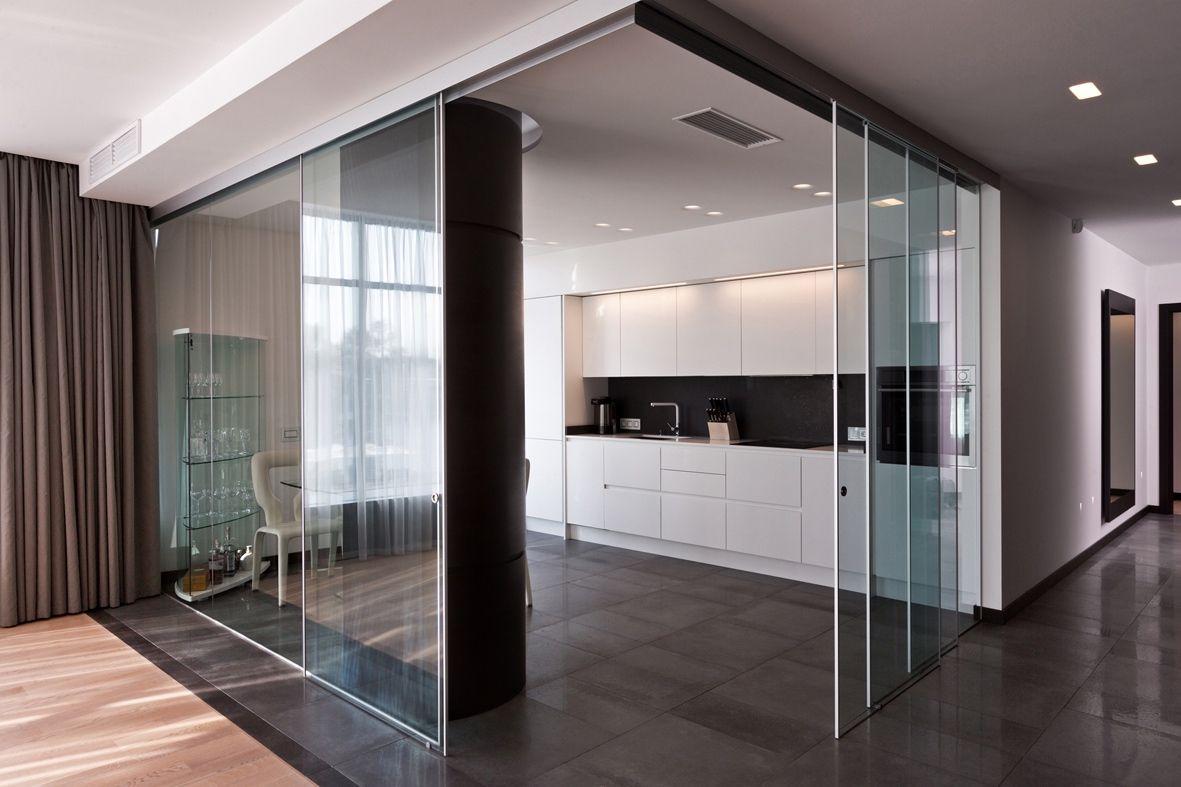 Ante Vetro Cucina le ante scorrevoli in vetro e alluminio possono comporre un