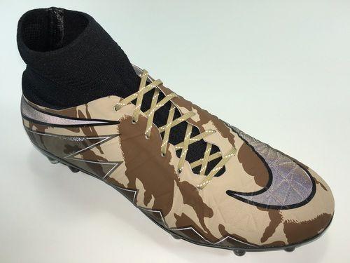 b3d902cd9d891 SR4U Reflective Gold Soccer Laces on Nike Hypervenom Phantom 2 Camo Pack