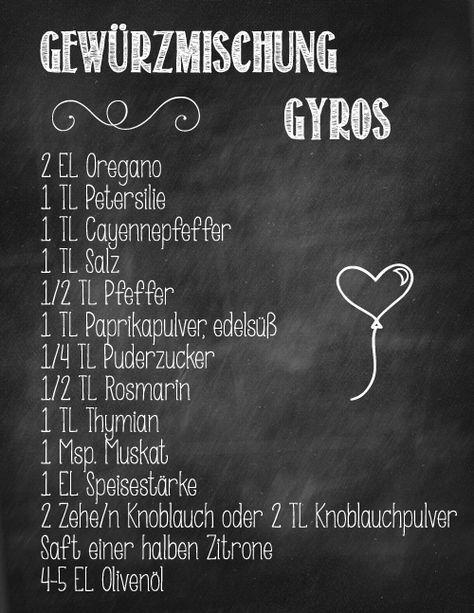 Hab Ich Mit Hanchenbrust Ausprobiert Und Es War Einfach Gigantisch Gewurzmischung Rezepte Gyros