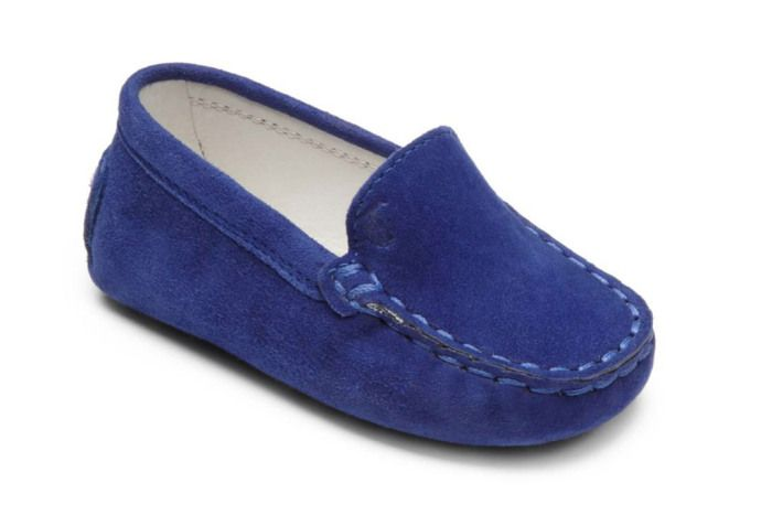 fe38a2ef0f1 Shoes For Kim Kardashian   Kanye West s New Baby  Tods baby boy blue suede  driving mocs.
