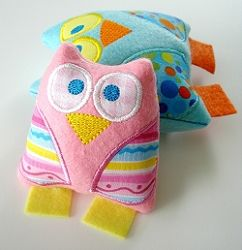 Owl Softie, In The Hoop - 3 Sizes!   In the Hoop   Machine Embroidery Designs   SWAKembroidery.com