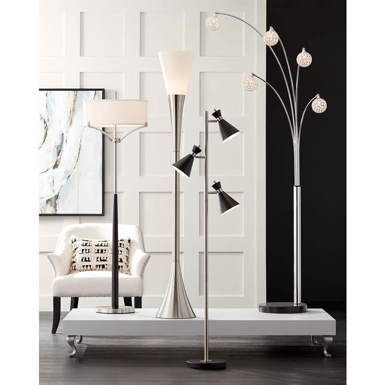 Donovan Led 3 Light Tree Floor Lamp 15a09 Lamps Plus Modern Arc Floor Lamp Arc Floor Lamps Possini Euro Design