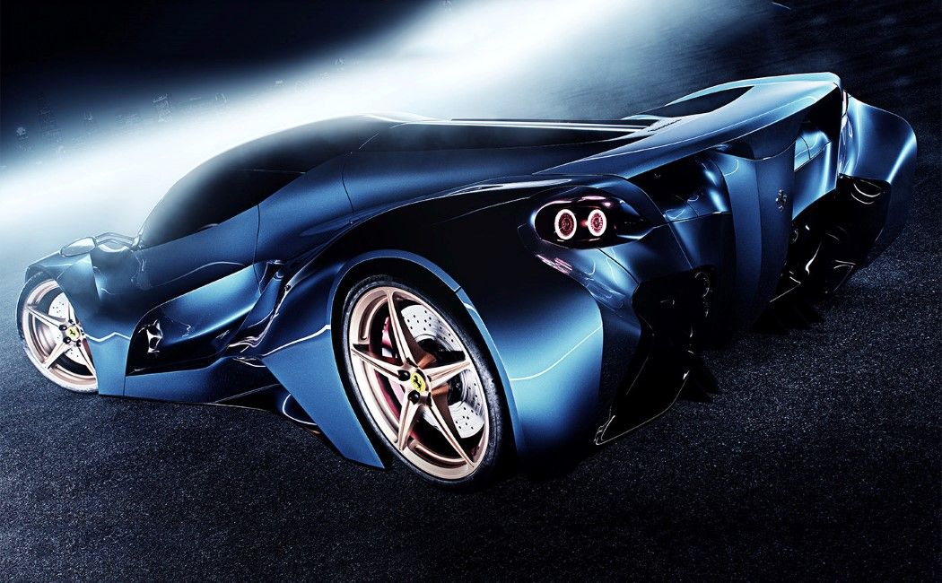 the only thing ferrari about this concept car is the logo on the