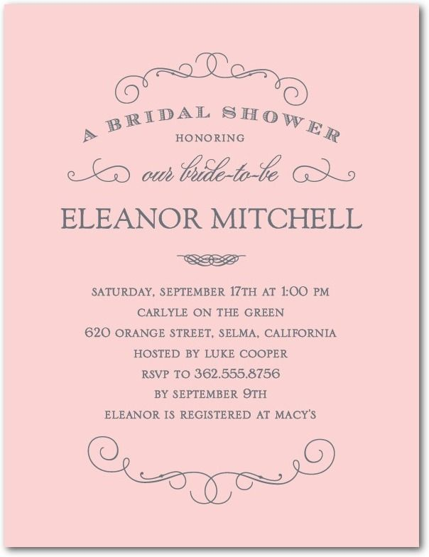 Classic Cursive Studio Basics Bridal Shower Invitations in Tea – Wedding Paper Divas Bridal Shower Invitations
