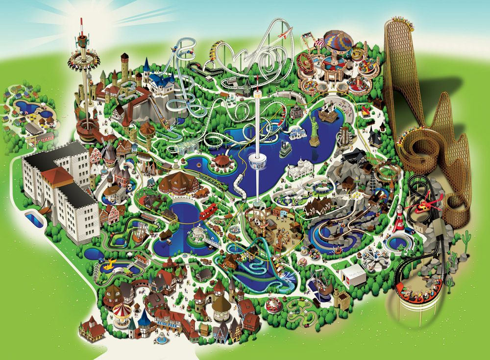 Heide Park in Hamburg love amusement parks would love to go