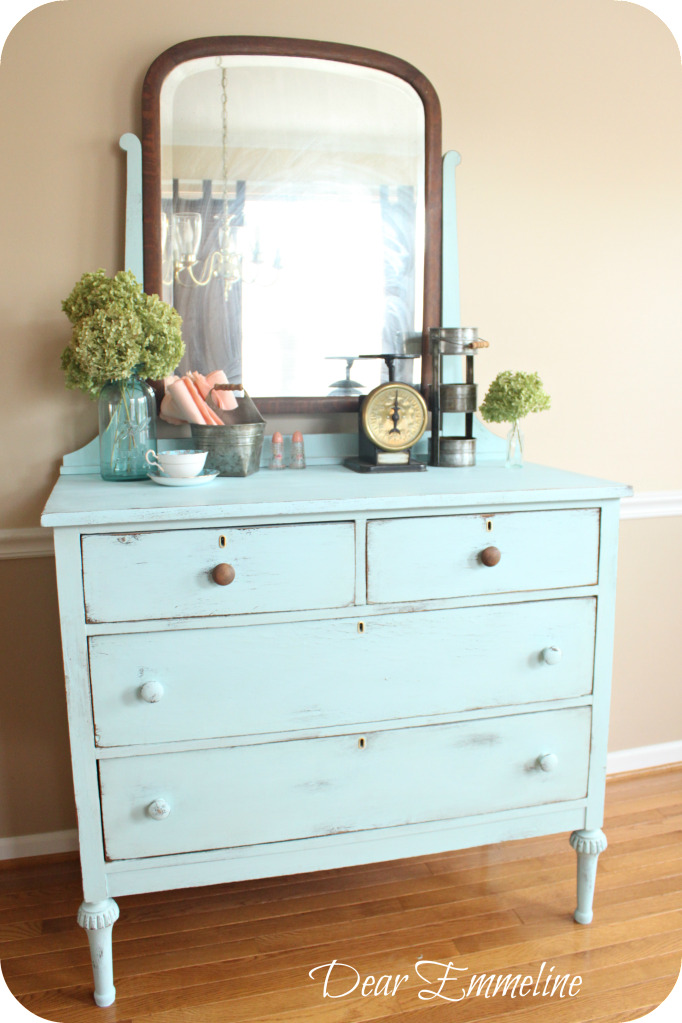 Old Pickup Blue Dresser Another Diy Chalky Paint Finish Recipe Leg Reconstruction And My Very Own Goofball